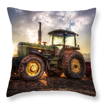 Throw Pillow featuring the photograph Workhorse II by Debra and Dave Vanderlaan
