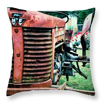 Throw Pillow featuring the photograph Workhorse by Patricia Greer