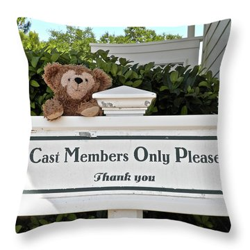 Working Bear Throw Pillow by Thomas Woolworth