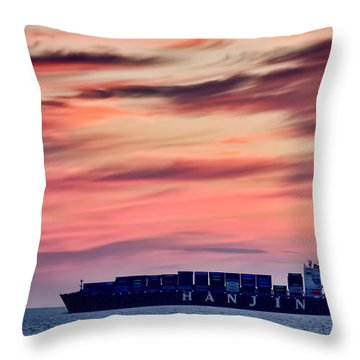 Working Before Dawn Throw Pillow