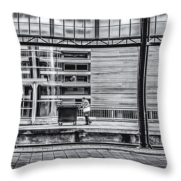 Working Men Throw Pillow