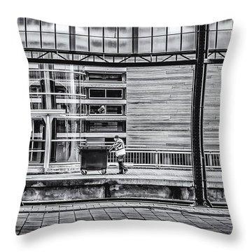 Working Men Throw Pillow by Yvon van der Wijk