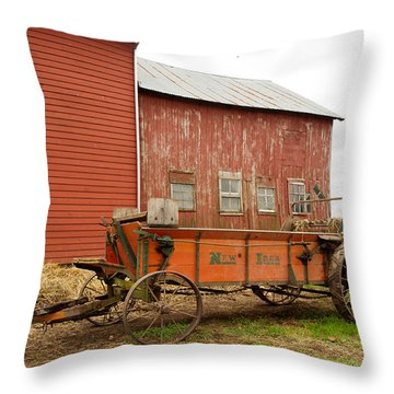 Working Wagon Throw Pillow