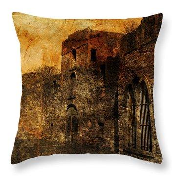 Workington Hall Throw Pillow by Randi Grace Nilsberg
