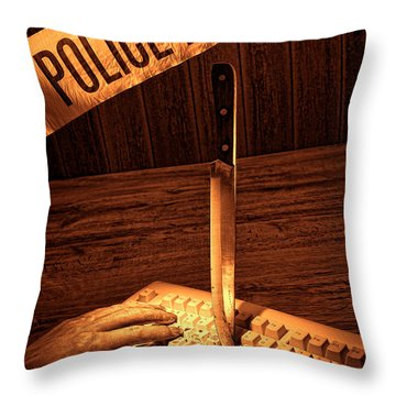 Workplace Violence Throw Pillow by Olivier Le Queinec