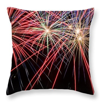 Works Of Fire II Throw Pillow by Ricky Barnard