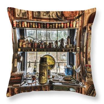 Workshop Throw Pillow by Debra and Dave Vanderlaan