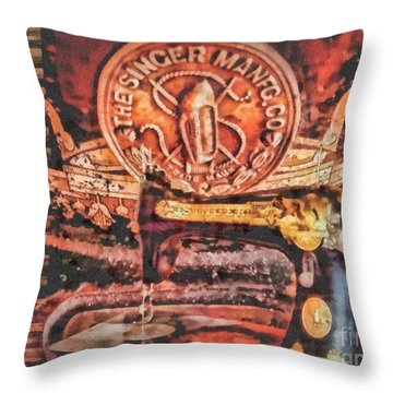 Workshop Throw Pillow by Mo T