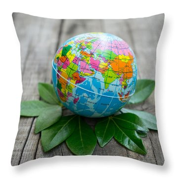 World Environment Concept Throw Pillow
