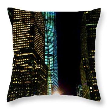 World Financial Center Throw Pillow by Mariola Bitner