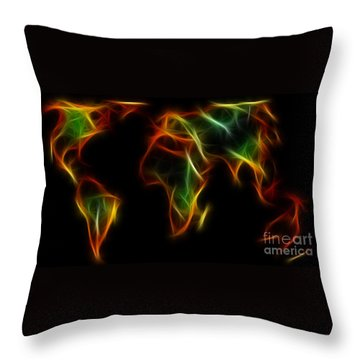 World Impressions - Abstract World Throw Pillow by Kaye Menner