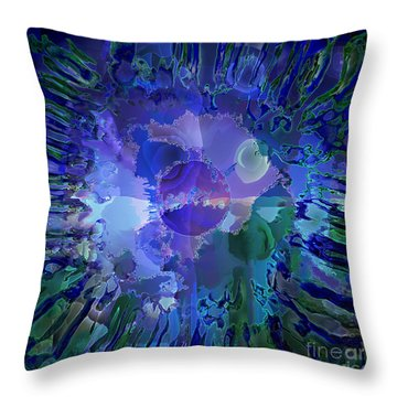 Throw Pillow featuring the digital art World In A Cell by Ursula Freer