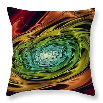 World In Her Hands Throw Pillow by Anastasiya Malakhova
