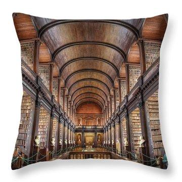 World Of Books Throw Pillow