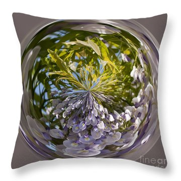 World Of Wisteria Throw Pillow by Anne Gilbert