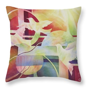 World Peace 2 Throw Pillow by Deborah Ronglien