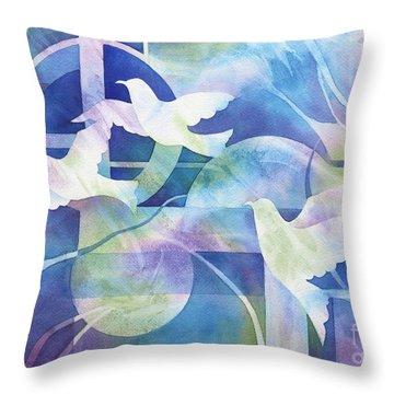 World Peace Throw Pillow by Deborah Ronglien