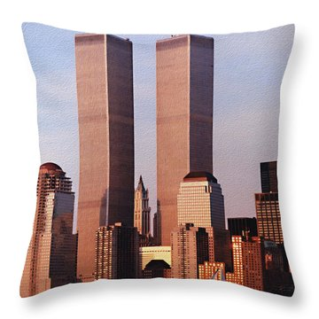 World Trade Center 1999 Throw Pillow