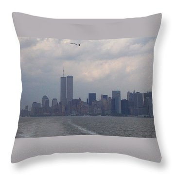 World Trade Center May 2001 Throw Pillow