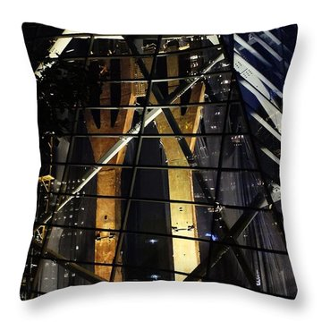 World Trade Center Museum At Night Throw Pillow