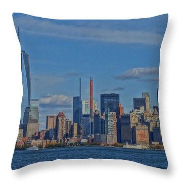 World Trade Center Painting Throw Pillow by Dan Sproul