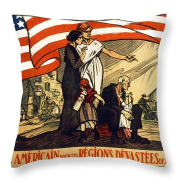 World War 1 Relief - France - 1917 Throw Pillow by Daniel Hagerman
