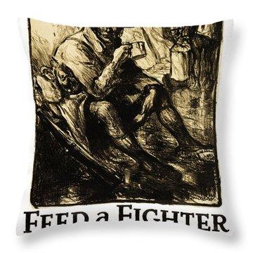 World War 1 - U. S. War Poster Throw Pillow by Daniel Hagerman