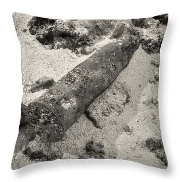 Throw Pillow featuring the photograph World War II Naval Ordinance by Aaron Whittemore