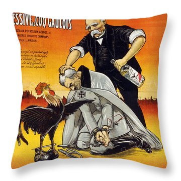 World War I French Ad Throw Pillow