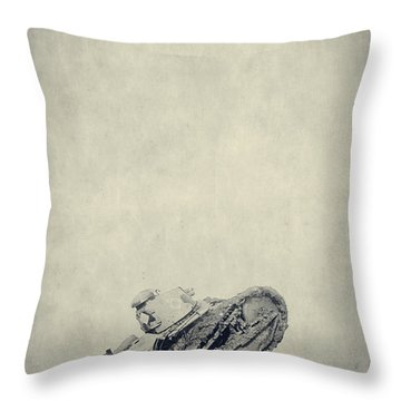 World War I Tank In Trench Warfare Throw Pillow