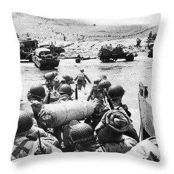World War II: D-day, 1944 Throw Pillow by Granger