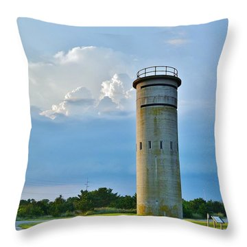 World War II Lookout Tower - Tower Road - Delaware State Park Throw Pillow