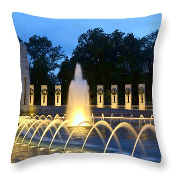 World War II Memorial Throw Pillow
