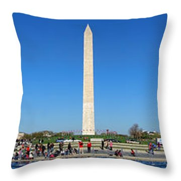 World War II Memorial Throw Pillow by Olivier Le Queinec