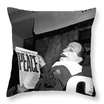 World War Two Ends Throw Pillow