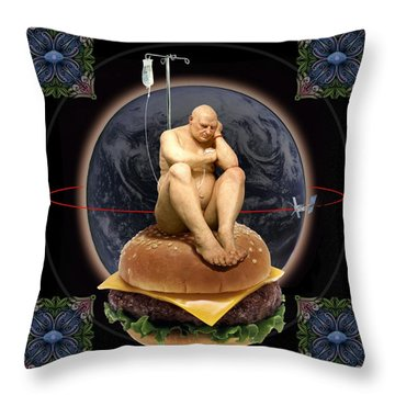 World Wide Throw Pillow