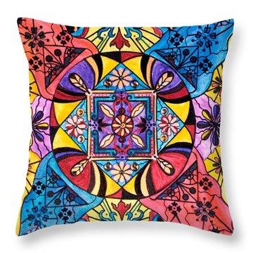 Worldly Abundance Throw Pillow