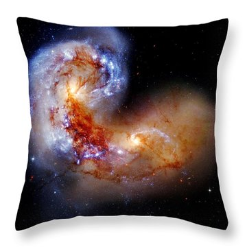 Worlds Collide Throw Pillow by Benjamin Yeager