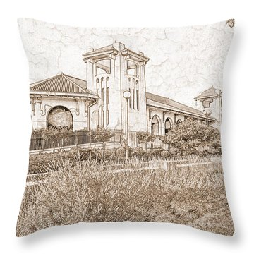 World's Fair Pavilion At Forest Park St Louis Throw Pillow