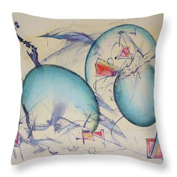 Worlds In Genesis Throw Pillow
