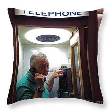 Worlds Largest Cell Phone. Throw Pillow