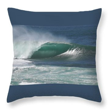 World's Most Perfect Wave . . . Throw Pillow by Kevin Smith