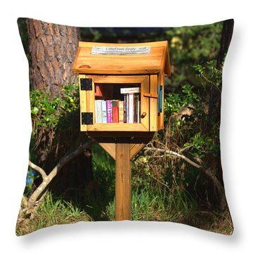 Throw Pillow featuring the photograph World's Smallest Library by Gordon Elwell