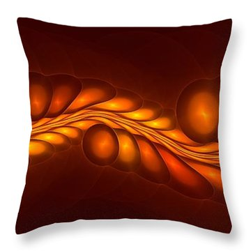 Worm Sign Orange Throw Pillow