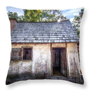 Wormsloe Cabin Throw Pillow