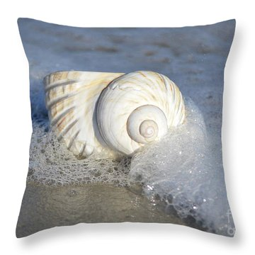 Throw Pillow featuring the photograph Worn By The Sea by Kathy Baccari