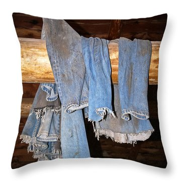 Throw Pillow featuring the photograph Worn Out At The End Of The Day by Sue Smith