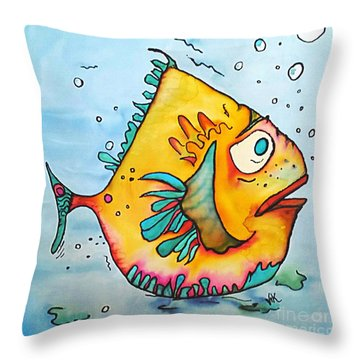 Big Charlie Throw Pillow by Vickie Scarlett-Fisher
