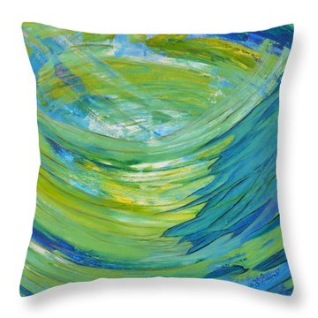 Throw Pillow featuring the painting Worship by Cassie Sears