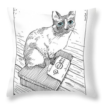 Worst Cat Burglar Ever Throw Pillow